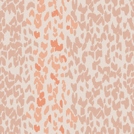Leopard Coral Rose Wallpaper (10m Roll)