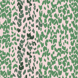 Leopard Emerald Rose Wallpaper (10m Roll)