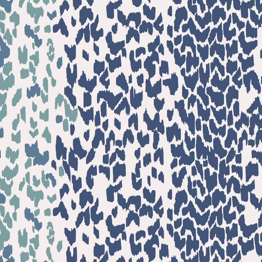 Leopard Ice Navy Wallpaper (10m Roll)