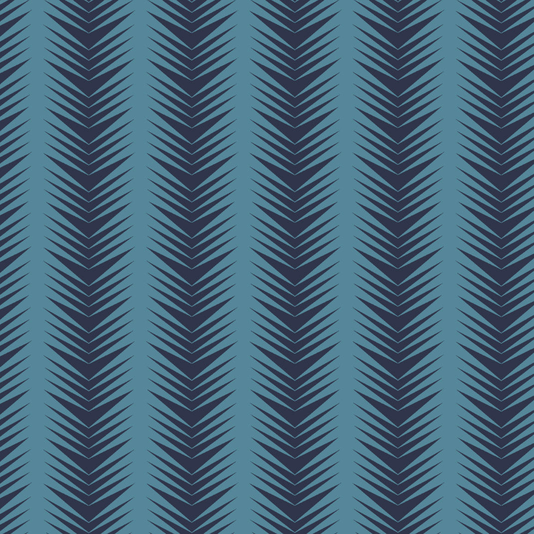 Ziggy Ice Navy Wallpaper (10m Roll)