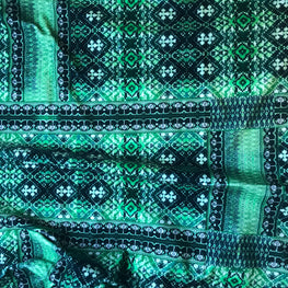 Ladder Ikat (Emerald Green)