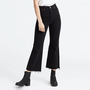 RIBCAGE CROP FLARE JEANS | ON THE ROCKS