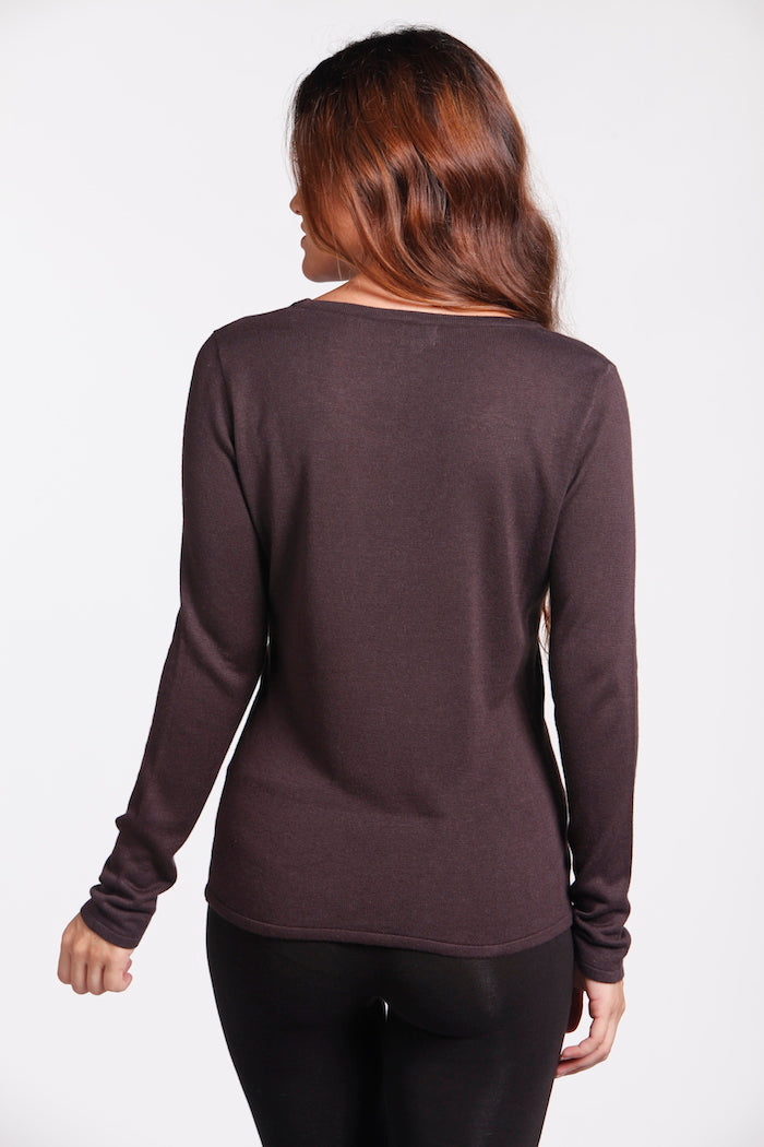 BAMBOO SCOOP NECK KNIT