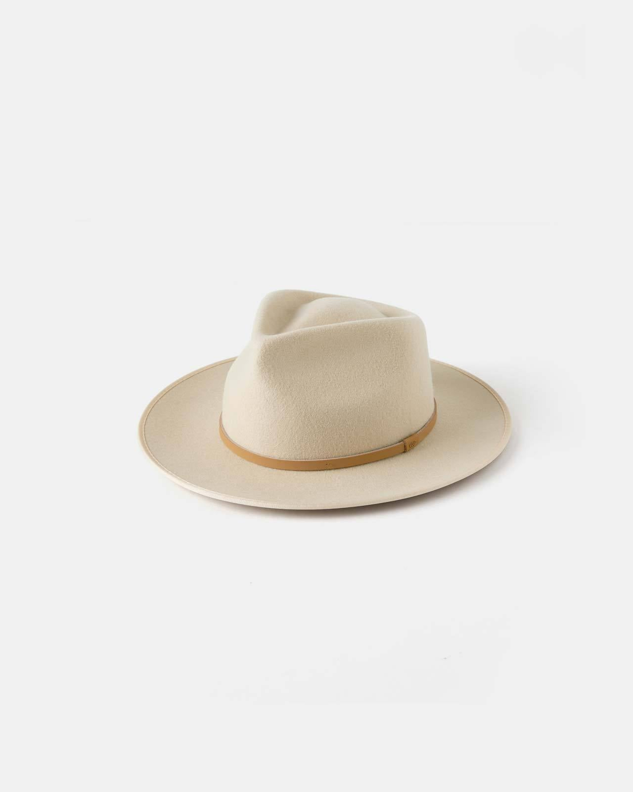 CALLOWAY WIDE BRIM WOOL FEDORA | CREAM