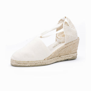 LACE UP BEIGE ESPADRILLES