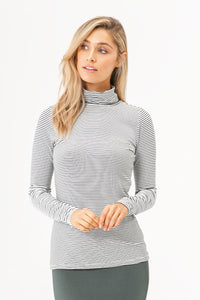 BAMBOO TURTLE NECK | STRIPE