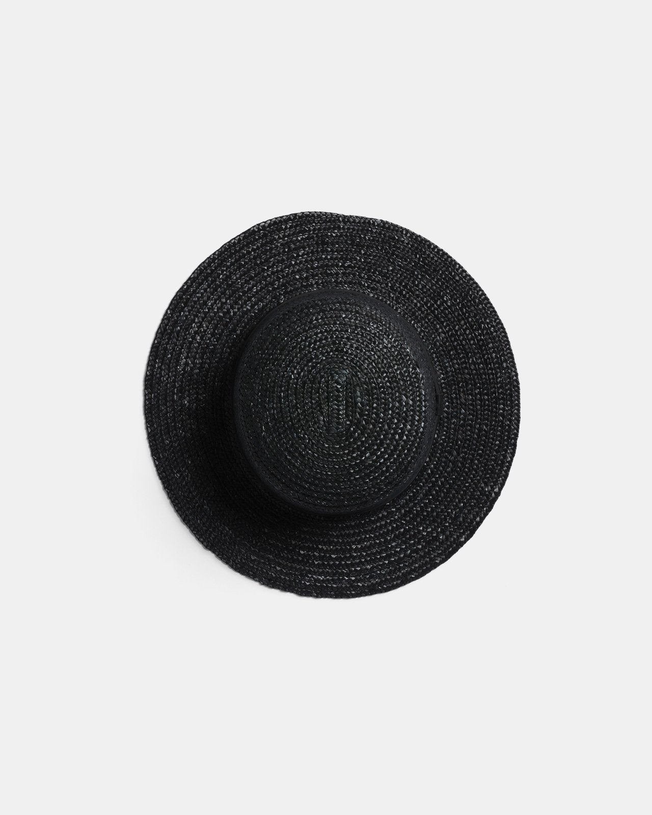 HARVEY BLACK STRAW HAT