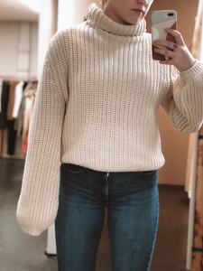 HAMPTONS ROLLNECK KNIT | CREAM