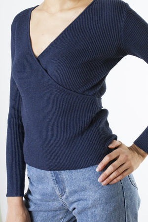 WRAP FRONT KNIT