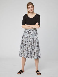 LEES STORY MIDI SKIRT WITH POCKETS