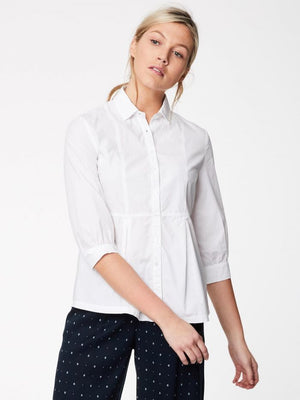 EDEN ORGANIC COTTON PETER PAN COLLAR BLOUSE | WHITE