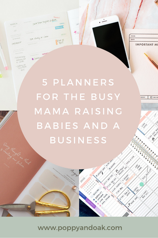 5 Planners for the busy mom, entrepreneur, mompreneur