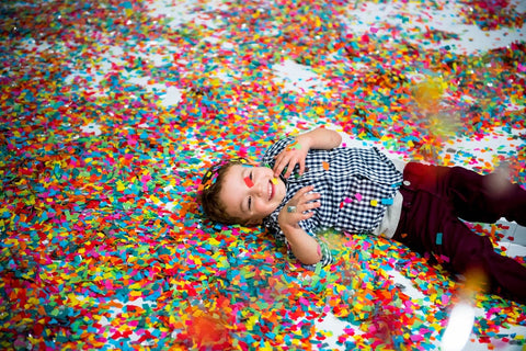 Color Factory San Francisco Confetti Accumulation Room Toddler Family Fun