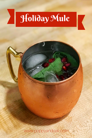 Festive Holiday Mule, Moscow Mule, Kentucky Mule, Cocktail