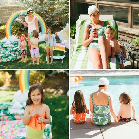 Kortni Jeane matching family swim suits