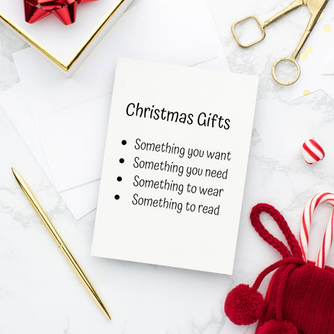 Christmas gift guidelines