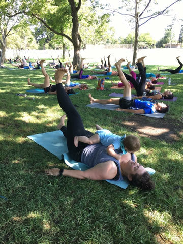 Yoga in the Park is a family friendly event