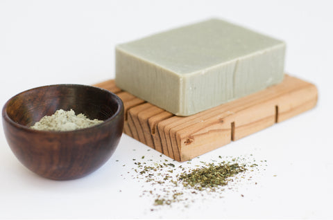 Figs and Feathers Farm, Green Tea and Sea Clay Soap