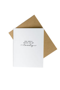 Letterpress Greeting Card Add-On {Available with the purchase of any box}