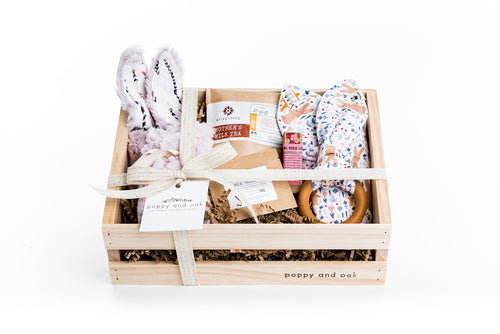 New baby gift box with gift for both baby and new mommy