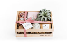 Poppy and Oak Repose Gift Box for her featuring a floral bath bomb