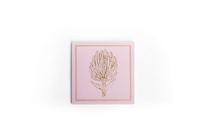 Pink protea notepad from Studio FIG