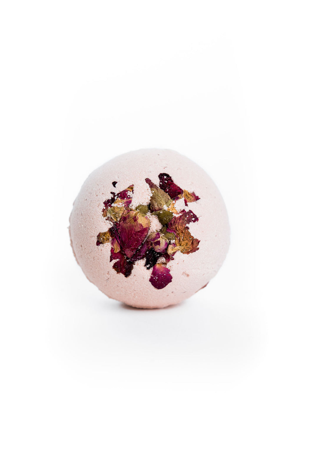 Rose bath bomb from The Good Rub