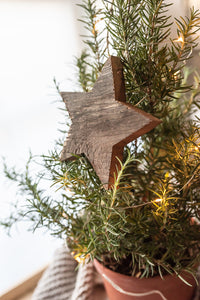 Reclaimed wood star Christmas ornament