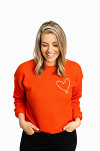 HEART|| COZY CREW ADULT POPPY