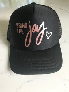 JOY || KIDS BLACK TRUCKER HAT