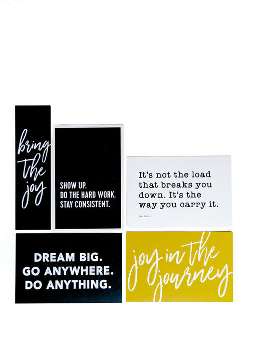 JOY || QUOTE CARDS
