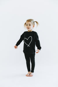 HEART || KIDS CREW BLACK