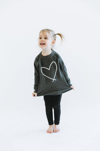 HEART || KIDS CREW GREY