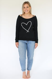 HEART || ADULT SCOOP BLACK