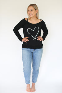 HEART || ADULT SCOOP BLACK  *****(THESE WILL SHIP AFTER DEC 2)******