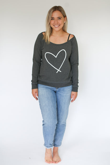 HEART || ADULT SCOOP GREY