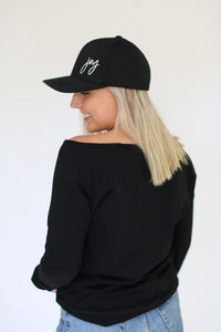 JOY HAT || SNAPBACK BLACK