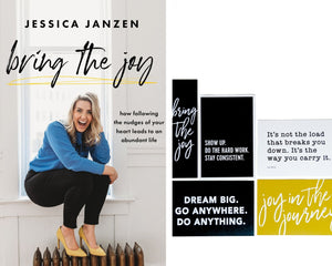BRING THE JOY BUNDLE || BOOK & QUOTE CARDS