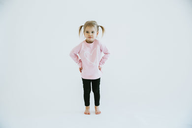 HEART|| KIDS CREW PINK ***PRE-ORDER SHIPS IN MARCH***