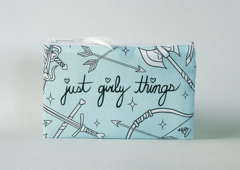 Just Girly Things Cosmetic Bag (PINK)