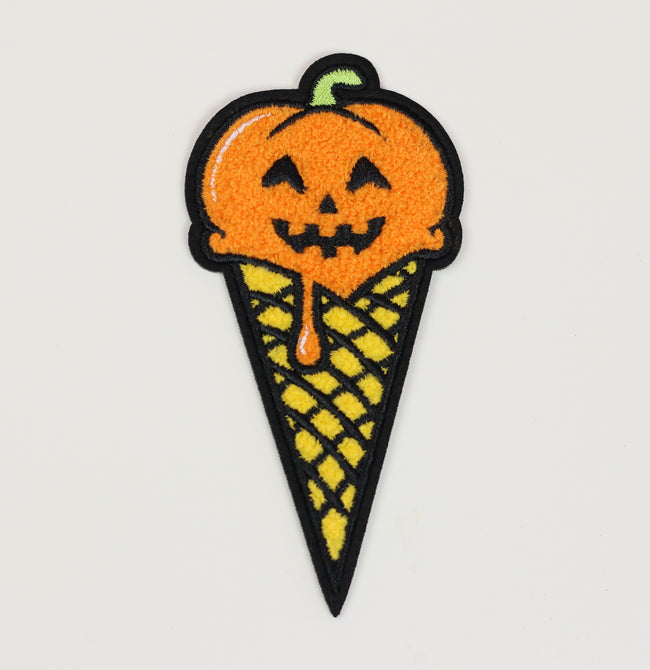 Scoop of Pumpkin Spice Ice Cream Iron-On Patch