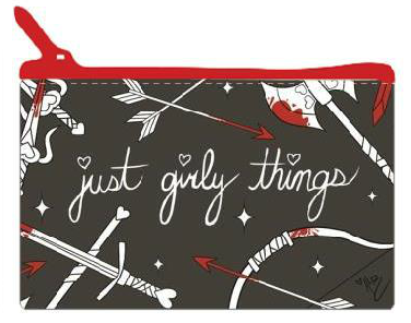 Just Girly Things Cosmetic Bag (BLACK)