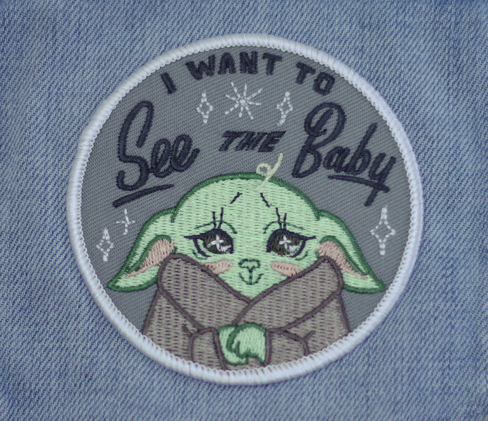 I Want to See the Baby Iron-On Patch