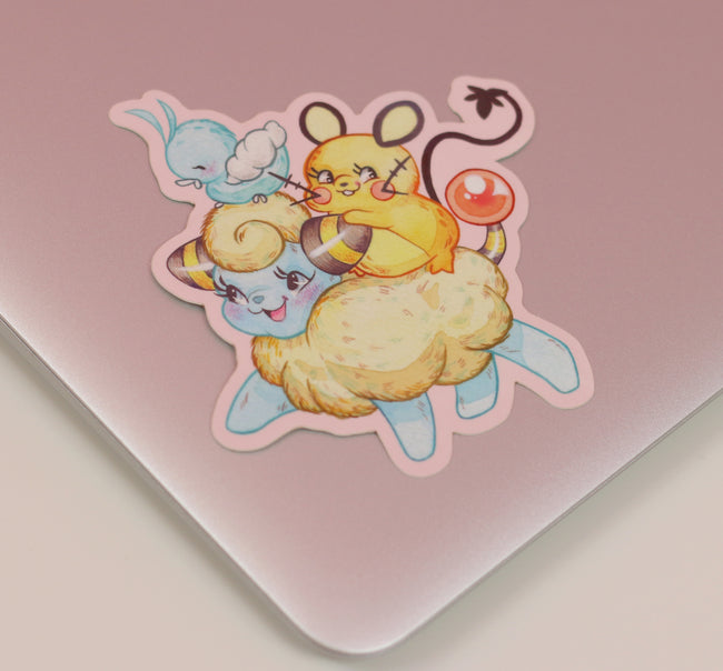 Little Golden Pokémon Mareep Sticker