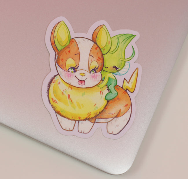 Little Golden Pokémon Yamper Sticker