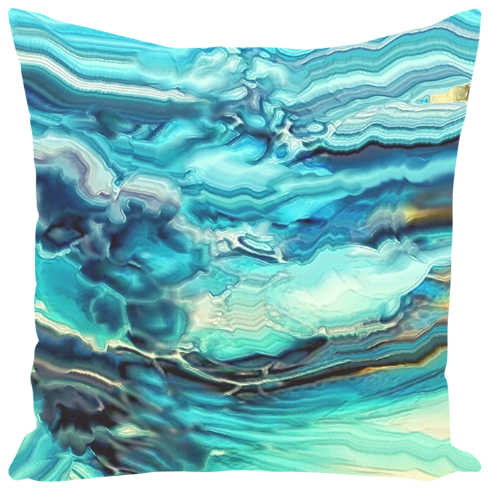 Seafoam Crystal [Throw Pillow]