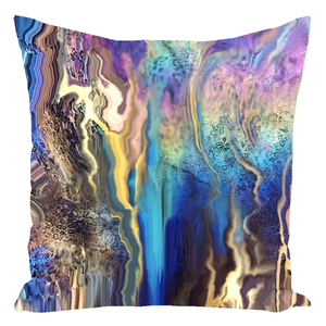 Rainbow Puddle [Throw Pillow]