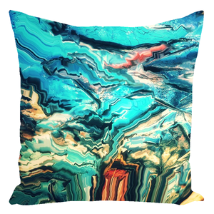 Frozen Leaves [Throw Pillow]