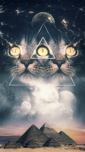 Third Eye Kitten Canvas