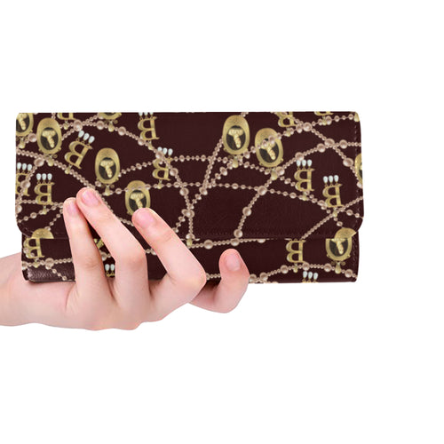 Anne Boleyn Portrait Pattern Women's Trifold Wallet